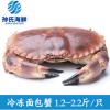 孙氏海鲜冷冻面包蟹 满膏螃蟹1.2-2.2斤/只 酒店专供海鲜黄金蟹