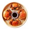 现货固城湖大闸蟹3.5公2.5母 肥膏王大闸蟹鲜活螃蟹 3对6只礼盒装包邮