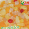 果夫杂果罐头 烘焙糖水菠萝椰果黄桃奶茶蛋糕水果罐头850g*24