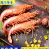 原装进口海捕活冻大虾 阿根廷原装进口红虾 大号 8-10只/斤
