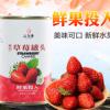 汇尔康草莓罐头425g/罐新鲜糖水型水果罐头烘焙果捞即食整箱批发